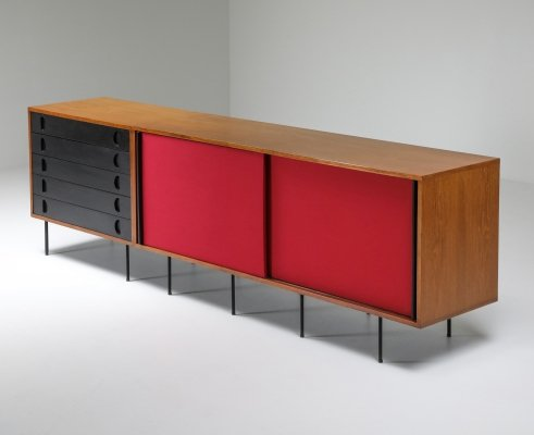 Black & Red Sideboard by Franco Campo & Carlo Graffi, 1950's