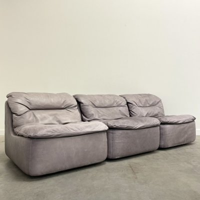 Laauser Modular elements sofa in leather, 1970s