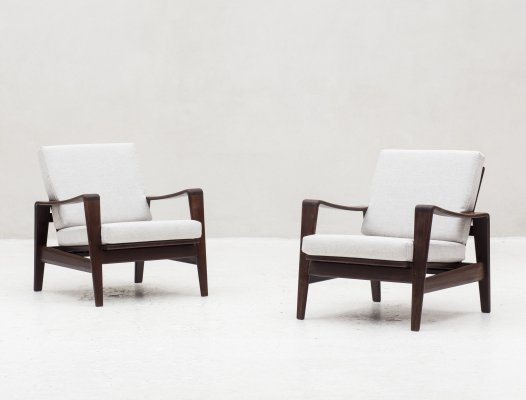 Set of 2 easy chairs by Arne Wahl Iversen for Komfort, Denmark 1960's