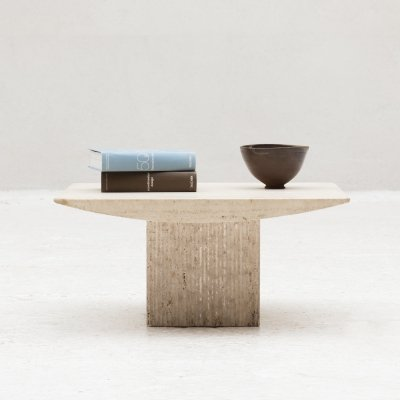 Sculptural Travertine Coffee table, Italy 1970's
