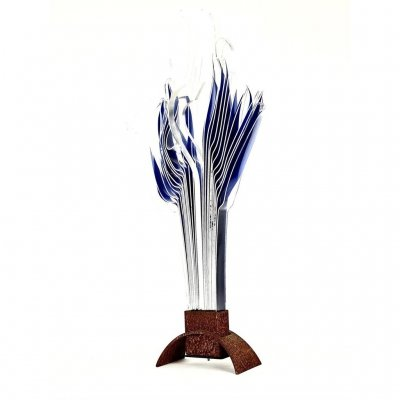 Abstract Perspex Sculpture Table Lamp