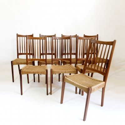Set of 8 G Plan dining chairs, 1960s