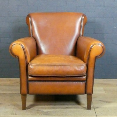 Vintage sheep leather club chair 'Her' by Muylaert