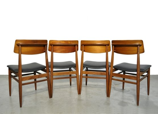 Set of 4 teak dining chairs by the Dutch company Topform, 1960s