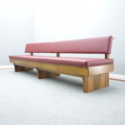 Mid Century Bench with Drawers, 1950s