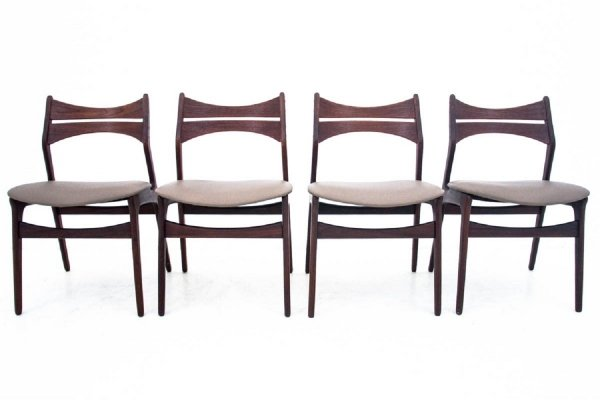 Set of 4 dining chairs by Eric Buck, Danish design 1960s