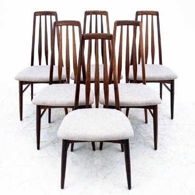 Set of 6 chairs by Niels Koefoed, Denmark 1960s