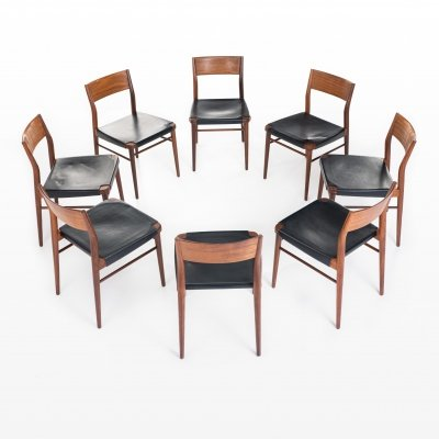 Set of 8 dining chairs by Georg Leowald for Wilkhahn, 1950s