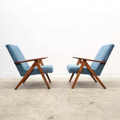 Mid Century Easy Chairs Model B - 310 Var in Turquoise