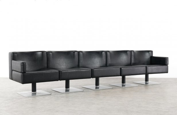Modular Lounge Sofa & Table by Herbert Hirche for Mauser, Germany 1974