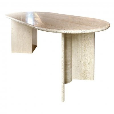 Travertine Dining Table, 1960s