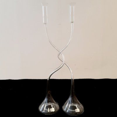 Strangled Glass Candleholder by Ming Hou Chen for Yumi, 1970s