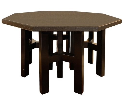 Hexagonal Table With Ado Chale Enameled Steel Base And Belgian Blue Stone Top, 1970s