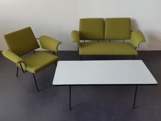 Highly rare seating group by Rudolf Wolf for Elsrijk