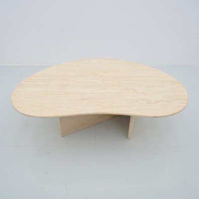 Boomerang Travertine Coffee Table, 1970s