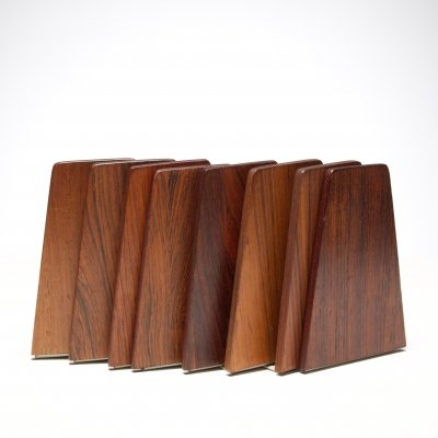 Kai Kristiansen bookends in rosewood, 1960s