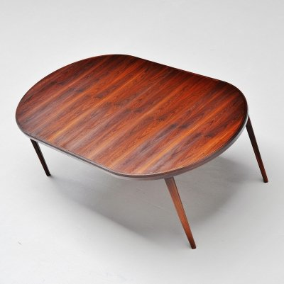 Torbjorn Afdal rosewood dining table by Nejestranda Norway, 1960