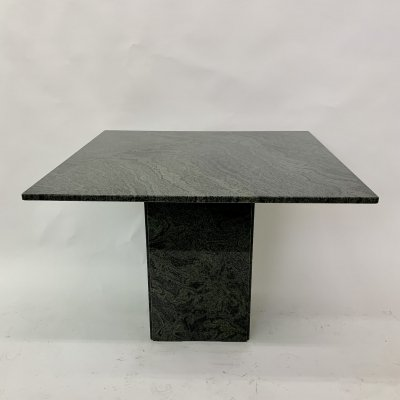 Green granite dining table, 1980's