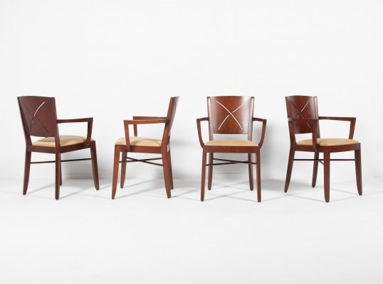 Set of 4 armchairs from Andreu World, 1990s