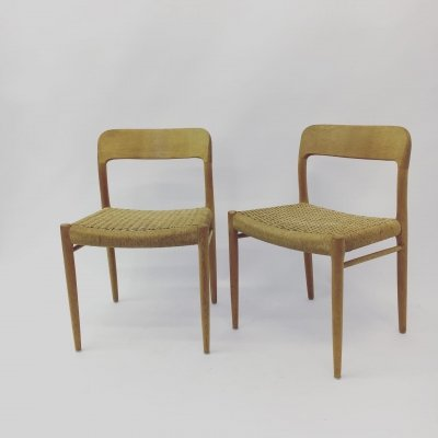 Set of 2 Dining Chairs by Niels O. Moller for J.L. Mollers, Denmark 1960's