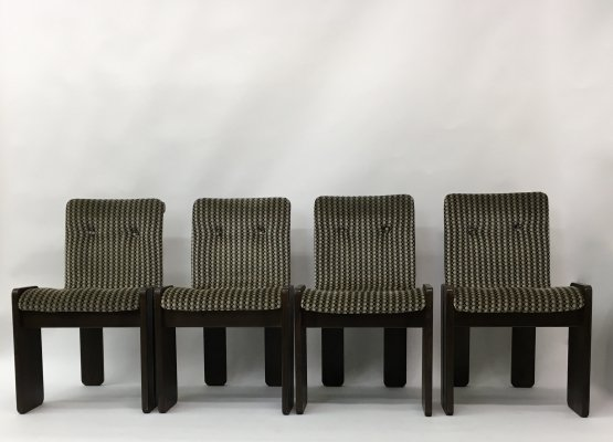 Set of 4 dining chairs, 1970's