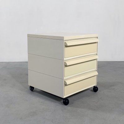 Chest of drawers on wheels model 4601 by Simon Fussell for Kartell, 1970s