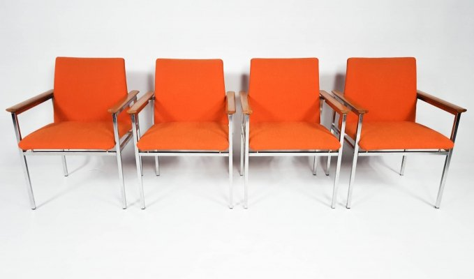 Set of 4 armchairs by Sigvard Bernadotte, 1960s