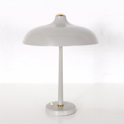 Sheet metal & brass Mushroom lamp by Rudolf Lutz for VEB Leuchtenbau, 1960's