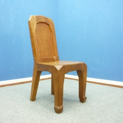 Handcrafted Anthroposophical Chair by Ernst Aisenpreis, 1930s