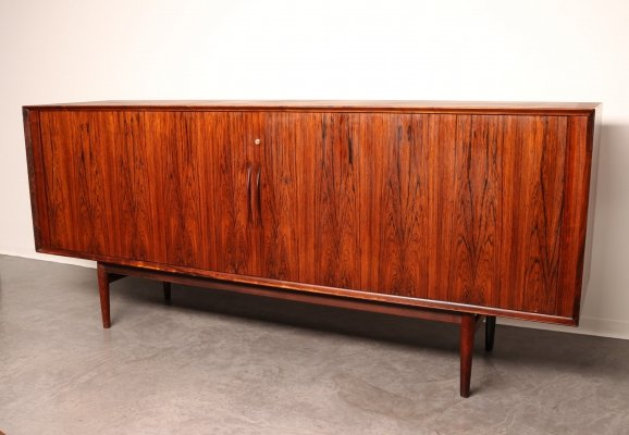 Sideboard in rosewood with tambour doors by Arne Vodder for Sibast-Denmark, 1960