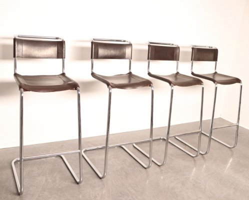 Set of 4 barstools 'model S39L' by Mart Stam for Thonet, Germany 1960's