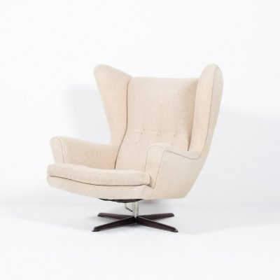 Mid-Century 'Diplomat' lounge armchair by E. Goldbach for Skippers Mobler