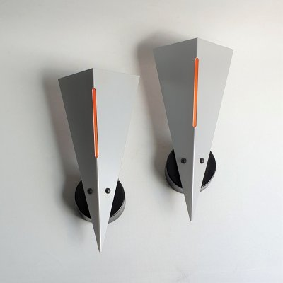 Pair of post modern wall lamps for Dijkstra Lampen, 1980s