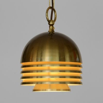 Golden layered pendant light by T. Röste & Co. Norway 1960s
