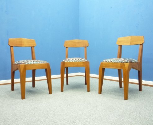 Anthroposophical Cherry Dining Chairs by Siegfried Pütz, 1920s,