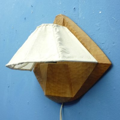 Anthroposophical Fabric & Wood Sconce, 1940s