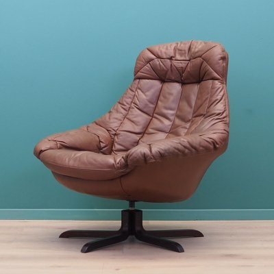Leather armchair by Henry W. Klein, Denmark 1960s