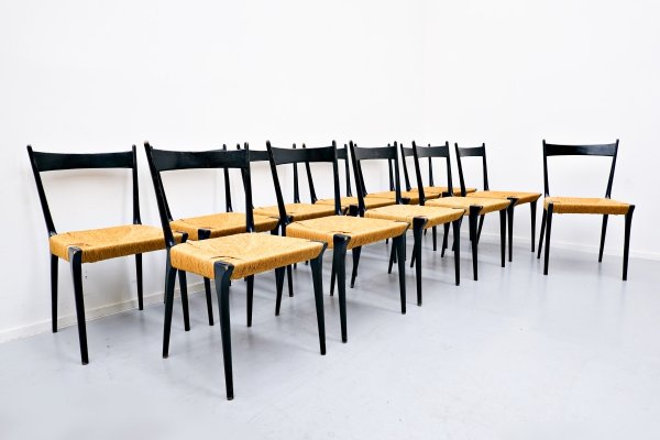 Set of 12 Dining chairs by Alfred Hendrickx for Belform, Belgium 1958