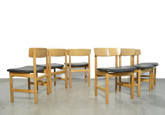 Set of 6 dining chairs 3236 by Børge Mogensen for Fredericia Stolefabrik, 1956