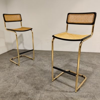 Pair of bar stools by Cidue, 1970s