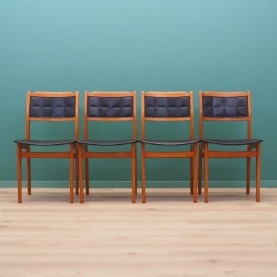 Set of four beech chairs, Denmark 1970s