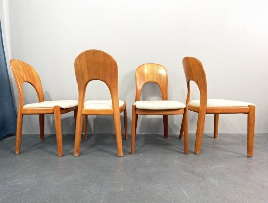 4 Mid-Century Dining Chairs by Nils Koefoed for Koefoeds Hornslet, Denmark 1960