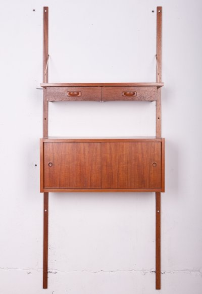 Mid-Century Danish Teak Modular Wall Unit from PS System, 1960s