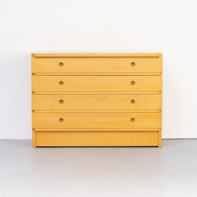 70 beech wood 4 drawer cabinet for Ibisco
