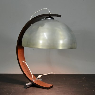 Table Lamp with wood arch structure, 1960s