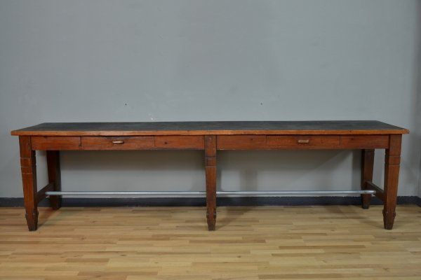 Very large wood dining table, 1920s