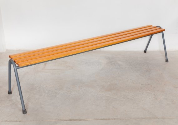 Industrial slat bench by Tubax, 1960s