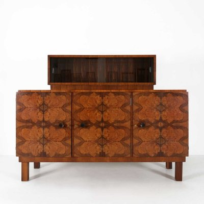 Art Deco sideboard with glass display, 1930s