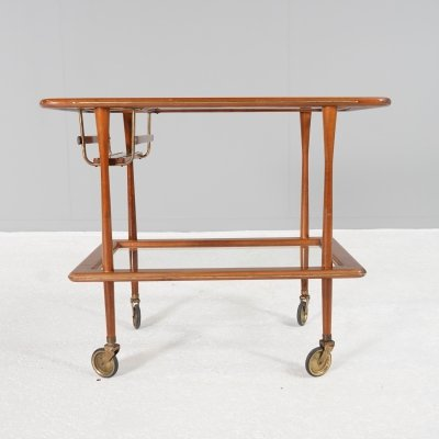 Italian Bar Cart by Cesare Lacca ,1950s
