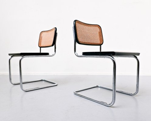 Set of 2 'B32' chairs by Marcel Breuer for Cidue, 1970s
